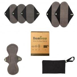 Kit De 6 Serviettes Hygiéniques Lavables - Bambaw