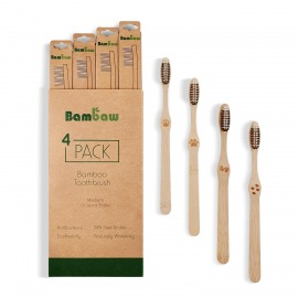 Lot de 4 Brosses à dents bambou - Bambaw